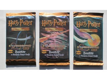 3 st. oöppnade paket HARRY POTTER 2001 Quidditch cup