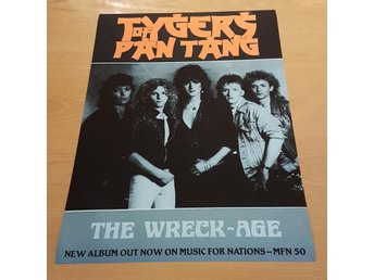 TYGERS OF PAN TANG THE WRECK AGE 1985 POSTER
