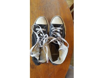 separation shoes 043df d580d Svarta Converse All Star strl. 37,5