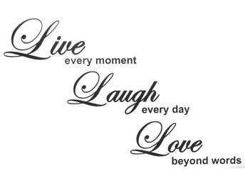 Väggdekor väggord väggtext Live every moment Laugh every d - örnsköldsvik - Väggdekor väggord väggtext Live every moment Laugh every d - örnsköldsvik