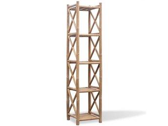 Fyrkantig hylla i bambu 5 våningar - Am Venray - Fyrkantig hylla i bambu 5 våningar - Am Venray