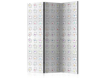 Rumsavdelare - Room divider – Colorful flowers I 135x172