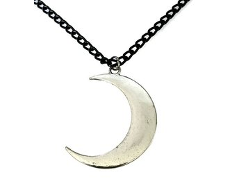 Choker Måne Crescent Moon Pagan Halsband Wicca