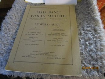 MARIA BANG'S VIOLIN METODE - NOTER