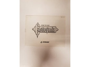 Castlevania - Manual NES NINTENDO - USA