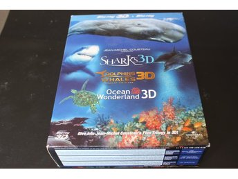 Bluray3D+Bluray-box: Sharks + Dolphins and Whales + Ocean Wonderland