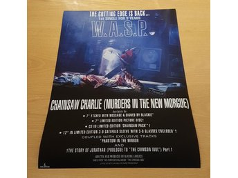 W.A.S.P. CHAINSAW CHARLIE 1992 POSTER