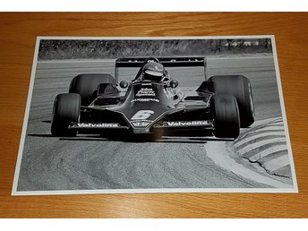 SUPER SWEDE RONNIE PETERSON RACING ANDERSTORP 1978 GLOSSY PHOTO