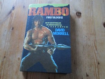 RAMBO FIRST BLOOD 2 DAVID MORELL KARTONNAGE