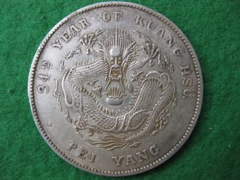 China Chihli dollar 1908 (34 year of Kuang Hsu) silver 27,1 gram