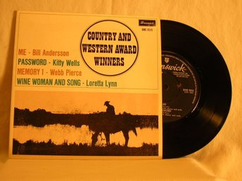 "V. A.   -  ""Country and Western award winners""         EP w. PS"