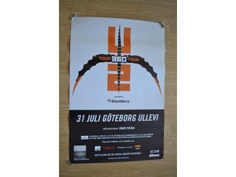 "U2 ""concert poster - gothenburg, sweden 2009"" (excellent)"