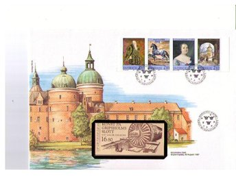 Philswiss häftes-FDC svensk text  Gripsholms slott 87-08-10