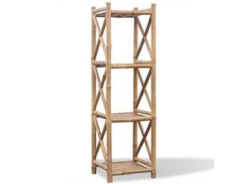 Fyrkantig hylla i bambu 4 våningar - Am Venray - Fyrkantig hylla i bambu 4 våningar - Am Venray