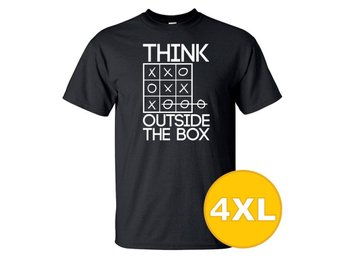 T-shirt Think Outside The Box Svart herr tshirt 4XL