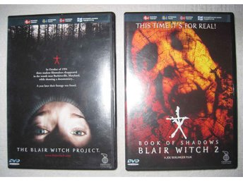 The Blair Witch Project & Book of Shadows Blair Witch 2 - 2 st DVD **Skräck film