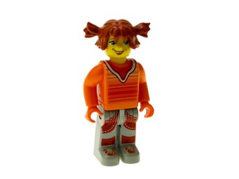 Lego Figur Figurer Junior - Tina Orange Tröja