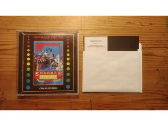 Seabase Delta, Commodore 64 spel. Diskett.
