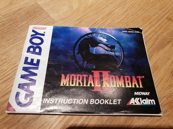 Mortal Kombat 2 EUR Manual GAME BOY
