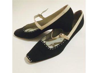 Vintage skor stl.40 - Svartå - Vintage skor stl.40 - Svartå