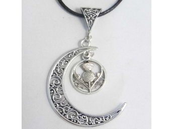 Tistel måne halsband / Thistle moon necklace