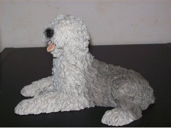 Bobtail Old English Sheepdog hund figurin