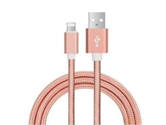 1.5m Rosegold Nylon USB for iPhone 7 6 6s - Göteborg - 1.5m Rosegold Nylon USB for iPhone 7 6 6s - Göteborg