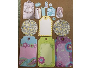 15 nya tags scrapbooking papper