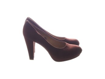 H&M, Pumps, Strl: 39, Brun, Mockaimitation