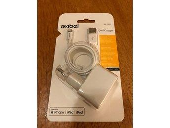 Exibel iPhone iPad laddare 5V 2.4A med Lightningkabel 1m MFi Apple Certifierad