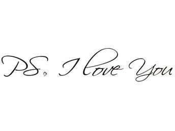 Väggdekor väggord väggtext PS. I Love You - örnsköldsvik - Väggdekor väggord väggtext PS. I Love You - örnsköldsvik