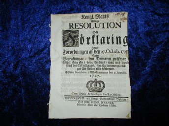 2 sida resolution oktober 1725