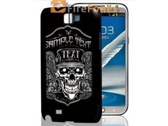 Galaxy Note II(N7100)/ Skull med Text/3D mobilskal/mobilskydd - Solna - Galaxy Note II(N7100)/ Skull med Text/3D mobilskal/mobilskydd - Solna