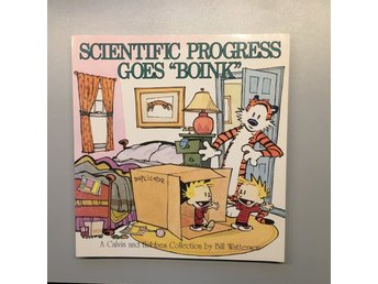 "Scientific Progress goes ""boink"", Calvin & Hobbes Bill Watterson boink 1991"