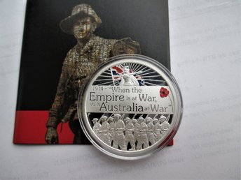 Australia, 1 dollar, 2014 Australia at war