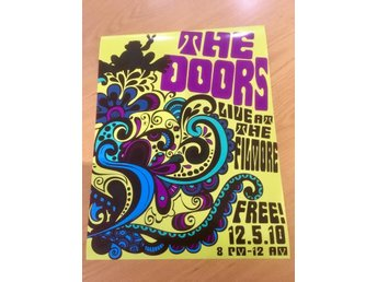 THE DOORS LIVE AT THE FILLMORE 1968  PHOTO POSTER