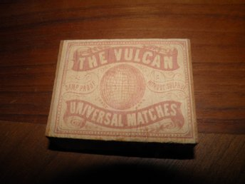 tändsticksask The Vulcan universal matches Tidaholm ( utan inner ask)