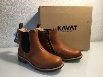 KAVAT Husum JR EP ljusbruna boots kängor skinn HELT NYA stl. 33