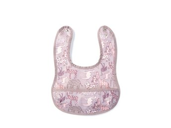 Smallstuff - Eating Bib Small with pocket - Rose Animal
