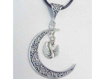 Svan måne halsband / Swan moon necklace