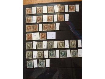 diverse frimärken, Oscar II, bruna, diverse nyanser svart grått blågrått - Teckomatorp - diverse frimärken, Oscar II, bruna, diverse nyanser svart grått blågrått - Teckomatorp