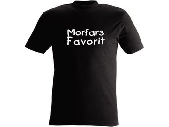 T-SHIRT Morfars Favorit Favorit nr 209 60cl 5mån-1år Svart