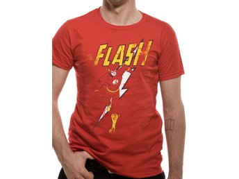 THE FLASH - DISTRESSED STRIKE T-Shirt (UNISEX) - X