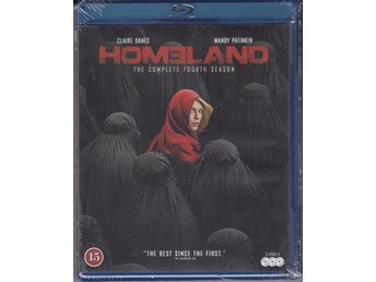 HOMELAND-HELA SÄSONG 4-NY O INPLASTAD BLURAY-BOX( 3 DISC ).
