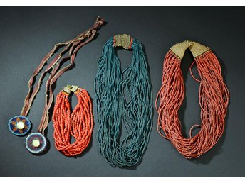 Collection of 5 original old naga necklaces - Silkeborg - Collection of 5 original old naga necklaces - Silkeborg