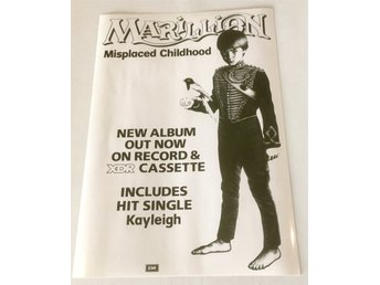 MARILLION MISPLACED CHILDHOOD 1985 GLOSSY PHOTO POSTER