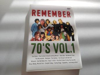 Remember 70's Vol. 1 DVD - Regionsfri PAL - Dave Dee, Hollies, Wizzard, Move