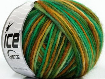 Magic Felt Wool, grön/brun, ullgarn, 50 g