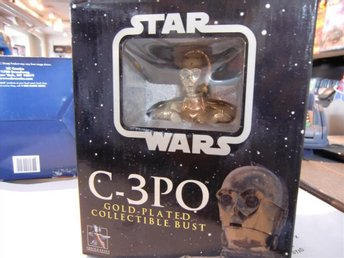 Gentle Giant Star Wars C3PO Gold-Plated Collectible Bust  2004