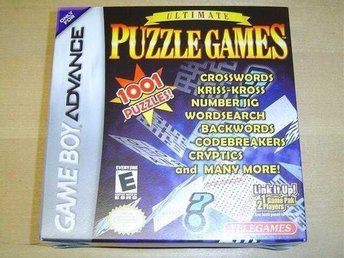 ULTIMATE PUZZLE GAMES NINTENDO GAMEBOY ADVANCE *NYTT*